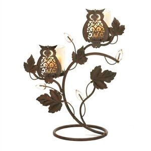 Wise Owl Duo Votive Candle Holder