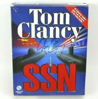Tom Clancy SSN SIGNED Autograph Windows 95 CD-ROM Video Game 2 Disc Set