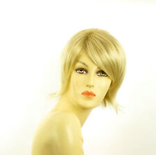 Perruque femme courte blond doré méché blond très clair  ROSY 24BT613