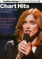 Audition Songs Female Singers Book 5 CD Chart Hits Sheet Music Corrs Madonna S73