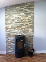 Splitface Oyster Slate Mosaic Tiles ( sample ) wall cladding feature wall