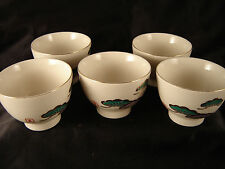 Japanese tea cups 5 trimmed gold elegant sauces snacks nuts dining patio bowls