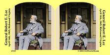 General Robert E. Lee Confederate Civil War SV Stereoview Stereocard 3D 23115