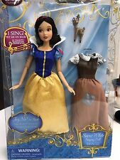 """NEW! Disney Store PRINCESS SNOW WHITE SINGING DOLL 12"""" Articulated Arms Posable"""