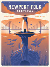 Newport Folk Festival Fort Adams 7/27-29/2018 Poster Signed & Numbered #/1050