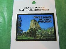DEVILS TOWER NATIONAL MONUMENT EMBROIDERED PATCH WYOMING TRAVEL SOUVENIR-P73