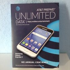AT&T Prepaid Cell Phone (Samsung Galaxy Express 3) NEW IN BOX.WHITE