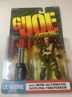 MOC Hasbro GI JOE Action Figure Extreme LT STONE Semi-Automatic Gatling 81161