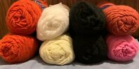Lot of 8 Skeins of Lion Brand Yarn Different Colors