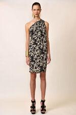 Michael Kors Resort Collection Toga Draped Silk Dress Animal Print $2600 US4 Med