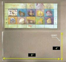 "OPP Plastic Sleeve Size [4"" x 8""] suitable for miniature sheet (70 pcs/pac)"