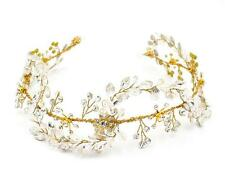Crystal Leaf Vine Gold Bridal Hair Accessories Wedding Prom Rhinestone Headpiece