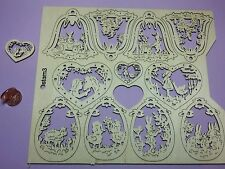 Ostern 3 Platte gross 10x Holzanhänger 6cm leicht ausdrückbar Osterei Glocke