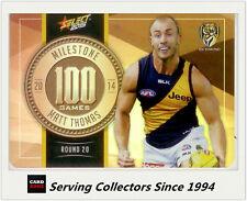 2015 AFL Champions Milestone Holofoil Card MG73 Matt Thomas (Richmond)