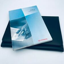 TOYOTA celica OWNERS MANUAL HANDBOOK AND WALLET PACK - 2000 onwards