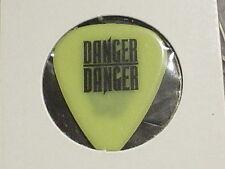 DANGER DANGER Logo & Bruno Ravel Face RaRe 1990's Concert Tour Neon GUITAR PICK