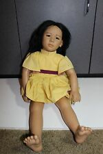 "Life Size Annette Himstedt Doll 24"" Original Cloths Puppen Kinder Asian Michiko"