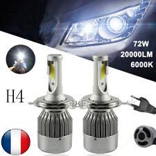 KIT AMPOULES LED H4 72W 6000K BLANC PUR AUTO MOTO 7600 LUMENS FEU PHARE