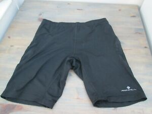 Black spandex running shorts by Ron Hill. Extra Large. UK post free