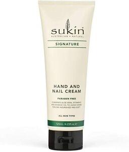 Sukin Hand and Nail Cream 125ml Tube SIGNATURE hydrate Aloe Vera, Vitamin E