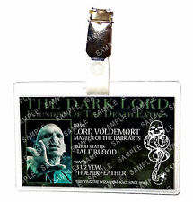 Harry Potter Death Eater Lord Voldemort ID Badge Cosplay Prop Costume Comic Con