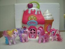 Hasbro My Little Pony SWEET SHOPPE Ponyville Ice Cream Sundae Parlor 4 Ponies