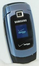 Samsung Snap Verizon BLUE Cell Phone Flip SCH-U340 Speakerphone mp3 simple easy
