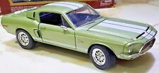 68 FORD Mustang SHELBY GT 500 KR Green 428 COBRA JET 1:18 Die Cast Road Legends