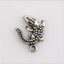 40 Lizard Tibetan Silver Charms Pendants Jewelry Making Findings