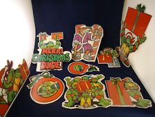 Teenage Mutant Ninja Turtles Retro 9 Pc Christmas Party Decoration TMNT Display