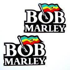 2PC. BOB MARLEY REGGAE SINGER STICKER DIE-CUT AUTO MOTOR SPORT CAR BIKE