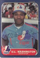 1986 FLEER #264 UL WASHINGTON EXPOS AUTOGRAPH Signed