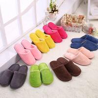 Women Men Winter Warm Couple PVC Home Indoor Cotton Floor Slippers Hotel Shoes
