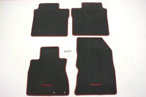 New OEM Black with Red Floor Mats Nissan Versa Note 2014-2019 4 piece mat set