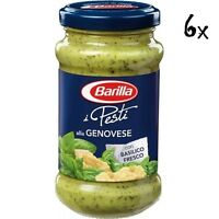 6x Barilla Pesti alla Genovese pesto mit Basilikum 190 g aus italien Sauce Soße