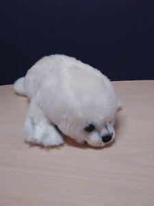 "Vintage Yomiko Classic White Harp Seal Stuffed Animal by Russ Berrie Plush  14"""