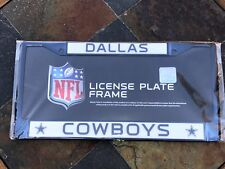 1 Dallas Cowboys Navy Blue Metal Vehicle License Plate Frame w Nice 3D Graphics