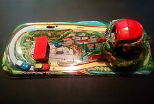 1950's Technofix #303 Tin Clockwork Wind Up Cable Car Set Tin toy Germany