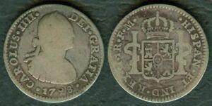 1798 Mexico 1 Real FM King CARLOS IIII DEI GRATIA SILVER Coin