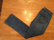 OLD NAVY Original Blue JEANS Stretch Straight leg Mid Rise Distressed 6 short