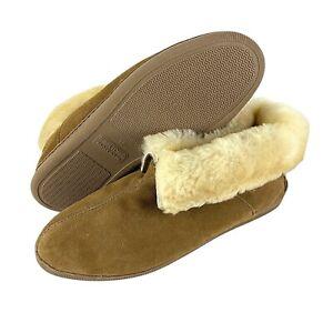 Minnetonka Sheepskin Suede Slippers Ankle Boots Slip-on  Men's 15