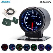 "52 mm 2"" Led Analogico Digitale RPM CONTAGIRI REV COUNTER Gauge Apexi DEFI GREDDY PO"