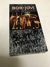 BON JOVI~SLIPPERY WHEN WET ~ THE VIDEOS~VHS, 1987~PolyGram MUSIC VIDEO~1+ SHIP