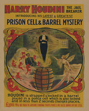 Harry Houdini Vintage Advertisement Poster (1906)