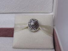 New Pandora Winter Wonderland Snowflake w/14Kt Gold Charm Clip 791232 Snow