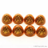 "8 New 2"" Amber LED Beehive Side Clearance Marker Lights Trailer Auto Bright"