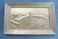 alte Bronze Plakette Werksanlagen National Registrierkassen Augsburg