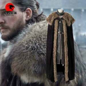 DFYM Game of Thrones 8 Jon Snow Cosplay Costumes Lether Suit Halloween Party