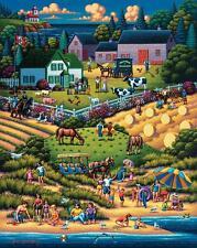 DOWDLE FOLK ART COLLECTORS JIGSAW PUZZLE PRINCE EDWARD ISLAND 1000 PCS #10322