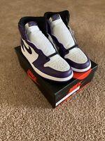 Nike Air Jordan 1 Retro High OG (2020) Size 9.5 Mens Court Purple 555088-500